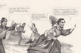 The Last Ditch of the Chivalry, or a President in Petticoats.