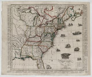 An Improved Map of the United States. Amos Doolittle, engraver.
