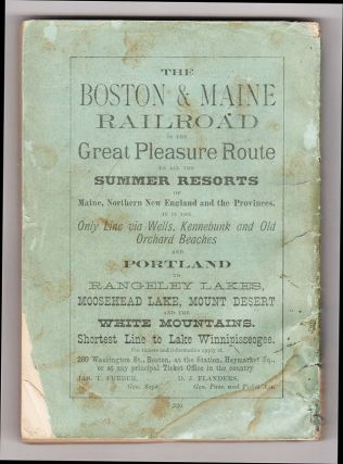 Farrar's Illustrated Guide Book to Moosehead Lake and Vicinity, the Wilds of Northern Maine and the Headwaters of the Kennebec, Penobscot, and St. John Rivers, with a New and Correct Map of the Lake Region, Drawn and Printed Expressly for his book.