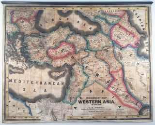 Missionary Map of Western Asia, and Adjacent Countries, From the Best Authorities. O. B. Bidwell.