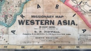 Missionary Map of Western Asia, and Adjacent Countries, From the Best Authorities...
