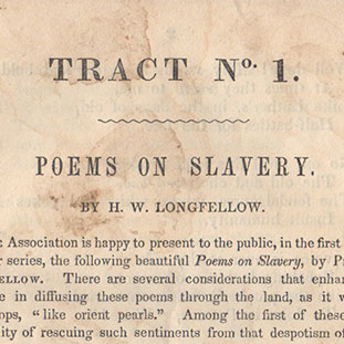 A sammelband of abolitionist tracts]. H. W. Longfellow, Amasa Walker, Esq., Alvin Stewart, James...