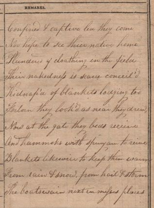 [Poem Written by an American Prisoner of the British at Melville Island During the War of 1812].