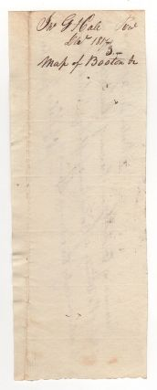 [Manuscript receipt for a copy of his Map of Boston and Vicinity.]