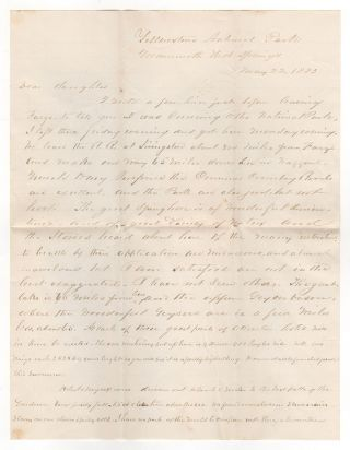 [A letter describing Yellowstone National Park]. George Ely.