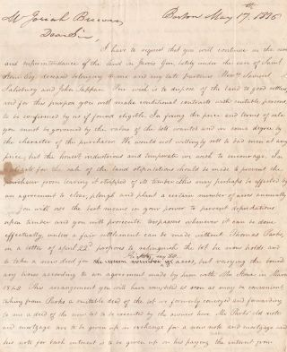 Archive Relating to the Founding of the Town of Brewer, Maine]. Josiah Brewer, Joseph Sewell