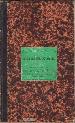 The Daily Journal for Ship Ontario from New York for San Francisco. Josiah Angier Mitchell