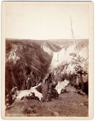 Lower Falls from Point Lookout, Yellowstone Park.