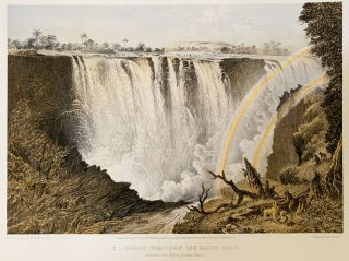 The Victoria Falls Zambesi River: sketched on the spot by T. Baines. Baines, homas
