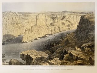 The Victoria Falls Zambesi River: sketched on the spot by T. Baines.