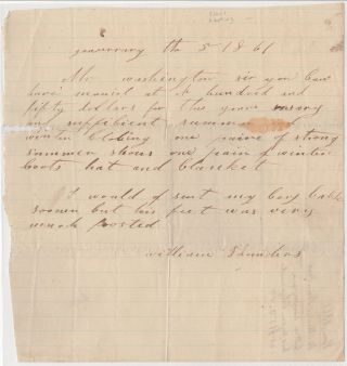 [William Saunders to John Augustine Washington III Concerning the Rental of His Slave.]. William Saunders.