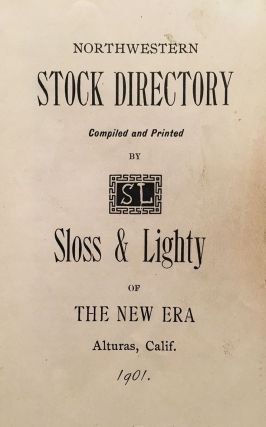 Northwestern Stock Directory. R. L. and May Lighty Sloss.