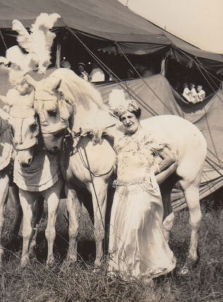 [A mammoth album of circus photographs].