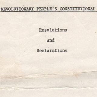 Revolutionary People's Constitutional Convention. Streets of Washington, D.C. [Map titles]. Revolutionary People's Constitutional Convention. Resolutions and Declarations [Text title].