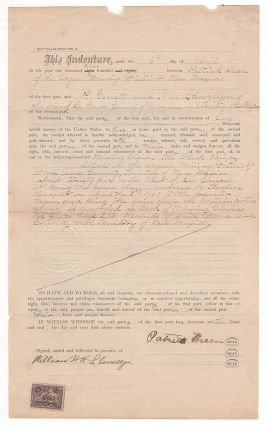 No. 2. Quit-Claim Deed. From Patrick Breen. To P[at] Garrett and L.W. LLewellyn. Patrick Breen, W. H. H. Llewellyn.