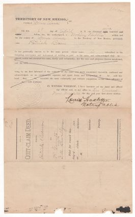 No. 2. Quit-Claim Deed. From Patrick Breen. To P[at] Garrett and L.W. LLewellyn.