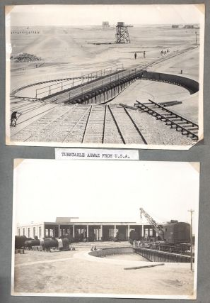 [Construction of the Trans-Iranian Railway.]