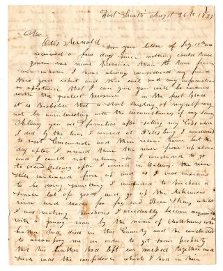 An early Arkansas trader's letter written during the Indian Removal period]. Jonas Bigelow