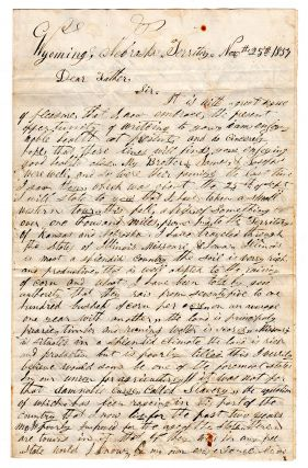 [Letter of a Nebraska City Mormon settler, businessman and city official on the mid-Western scene.]. Jacob W. Waldsmith.