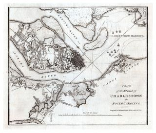 Plan of the Siege of Charlestown in South Carolina. William Faden, Charles Stedman
