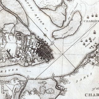 Plan of the Siege of Charlestown in South Carolina.
