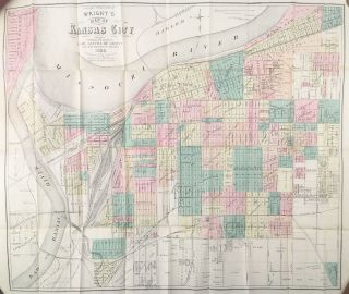 Wright's New Map and Guide for Kansas City, Mo. Kansas City and Wyandotte, Kans. Carl Gothe de...