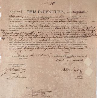 [Indenture of a German Immigrant Woman at the New Orleans Jail.]