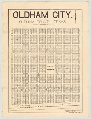 Oldham City, Texas and Rock Island Investment Co. archive]. E. J. Batte, civil engineer