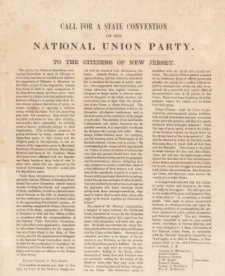 Call for a State Convention of the National Union Party. To the Citizens of New Jersey.