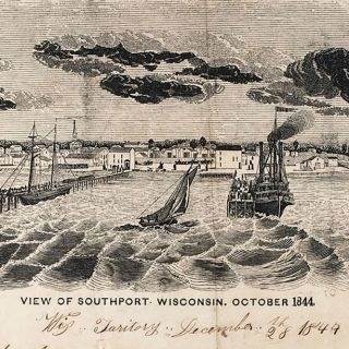 View of Southport, Wisconsin, October 1844.