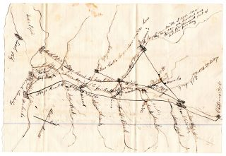 [Letter of a frontiersman in Wisconsin, with manuscript map.]. Linus Porter Kellogg.