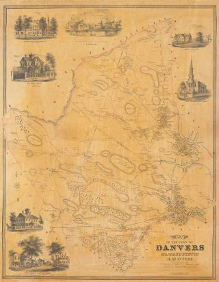 Map of the Town of Danvers Massachusetts.