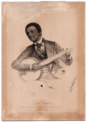 Archive of an American Minstrel Performer Touring England with the Ethiopian Serenaders Blackface...