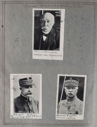 [Scrapbook of WWI Intelligence Officer and Author.] World War Scrap Book [cover-title].