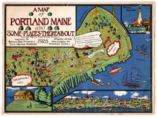 A Map of Portland Maine and Some Places Thereabout.