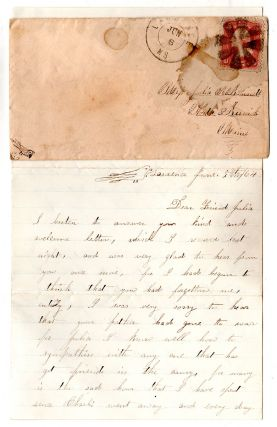 Letter of the Wife of a Union Soldier Apparently From Maine, On the Ravages of the Civil War.]....