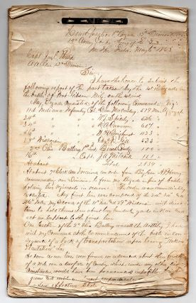 [Manuscript compilation of official reports for the Battle of Port Gibson.]