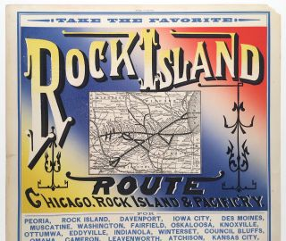 Take the Favorite Rock Island Route, Chicago, Rock Island & Pacific R'y.