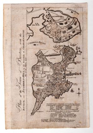 Plan of the Town of Boston, With the Attack on Bunker's Hill, in the Peninsula of Charlestown,...