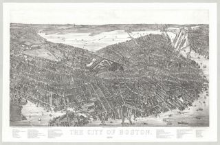 The City of Boston. 1879. J. C. Hazen, del