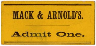 Mack & Arnold's Minstrels! Will Perform at the Town Hall, Windsor, on Saturday Eve., March 2d, 1867.