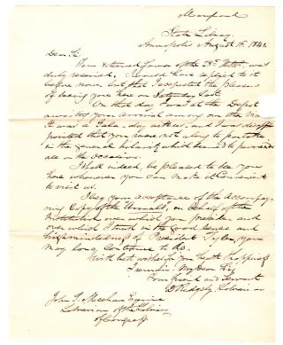 [Donation receipt and correspondence between the Library of Congress and State of Maryland.]