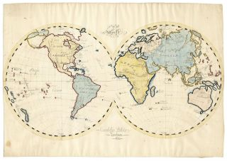 The World. [Schoolgirl Map]. Cordelia Wilder