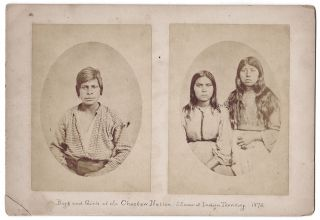 Boys and Girls of the Choctaw Nation,—S.E. corner of Indian Territory. 1872. Antonio Zeno...