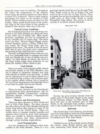 The New Palm Beaches of 1929: The Industrial Cities, The Resort Cities, The Home Cities.