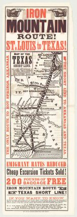 Iron Mountain Route! St. Louis to Texas! Iron Mountain St. Louis, Southern Railway Company