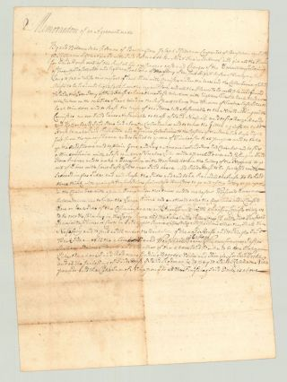 Memorandum of an Agreement made. John Rodman, Joseph Baker Joseph Ketcham