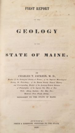 First Report on the Geology of the State of Maine.