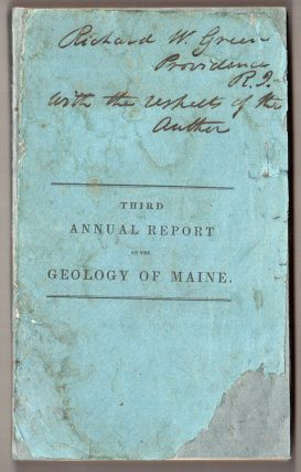 Third Annual Report on the Geology of the State of Maine. Charles T. Jackson