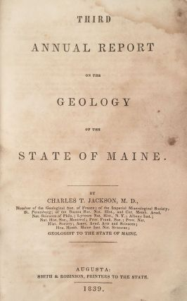 Third Annual Report on the Geology of the State of Maine.